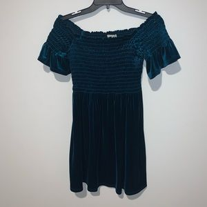 URBAN OUTFITTERS Crushed Velvet Dress